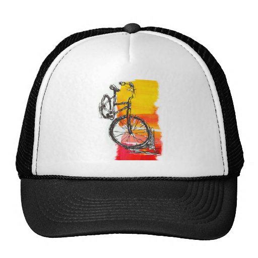 Colorful Red Bike Trucker Hat