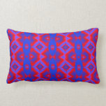 colorful red blue fractal pattern pillow