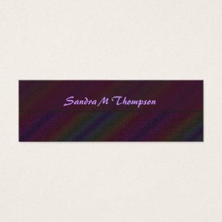 Colorful Red blue yellow Rainbow Stripes Mini Business Card