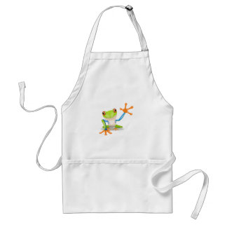 Colorful Red-Eyed Tree Frog Reaching Out Adult Apron