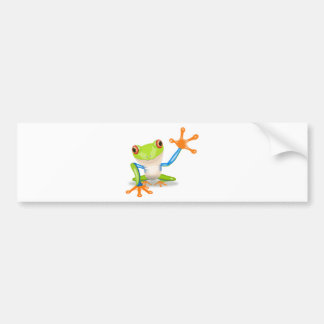 Colorful Red-Eyed Tree Frog Reaching Out Bumper Sticker