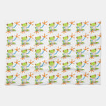 Colorful Red-Eyed Tree Frog Reaching Out Kitchen Towel