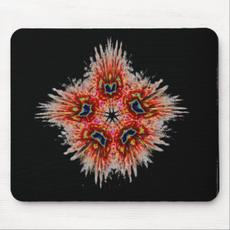 Colorful Red Flower Mouse Pad