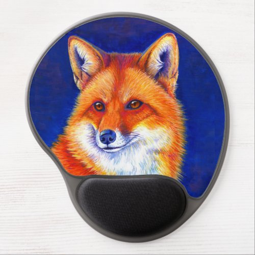 Colorful Red Fox Gel Mousepad