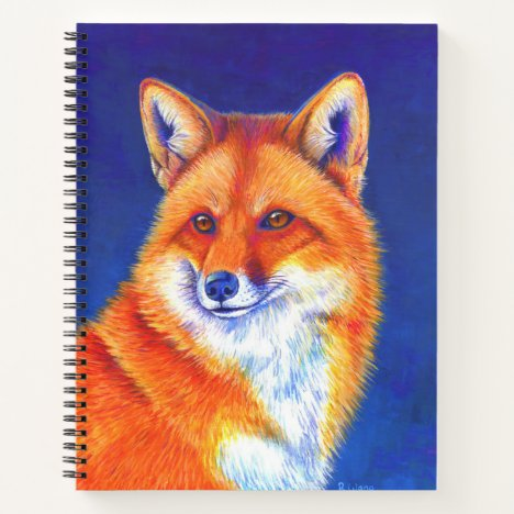 Colorful Red Fox Spiral Notebook