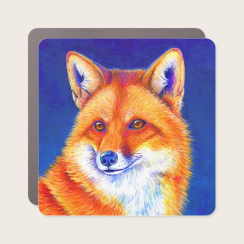 Colorful Red Fox Sticker Car Magnet