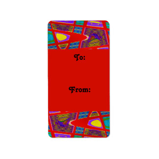 Colorful Red Gift Tag