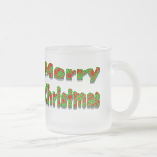 Colorful Red Green Merry Christmas Mugs