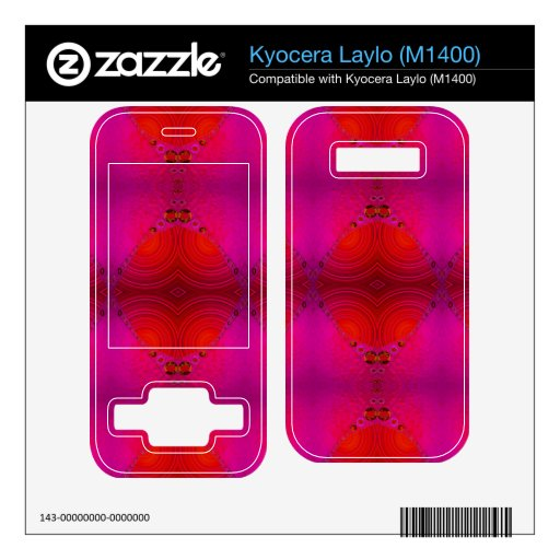 colorful red pink abstract kyocera laylo decals