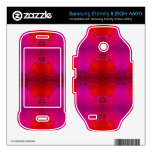 colorful red pink abstract samsung eternity II skins