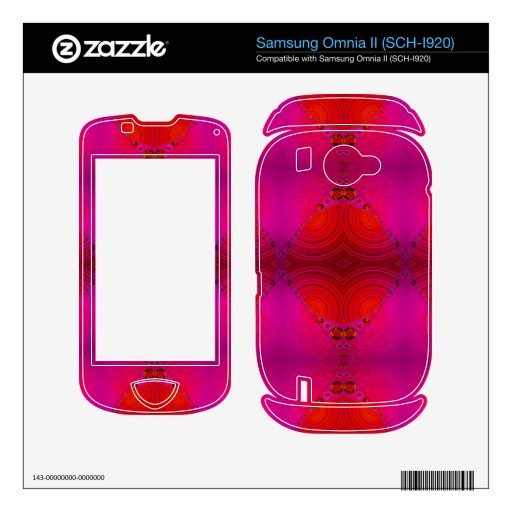 colorful red pink abstract samsung omnia II skin