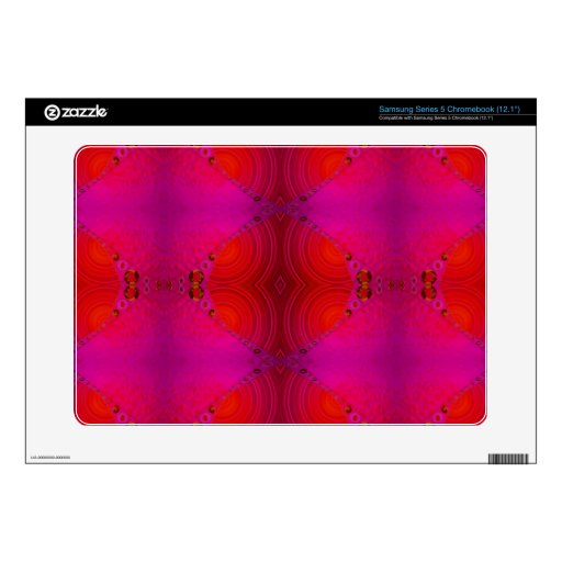 colorful red pink abstract samsung chromebook skins