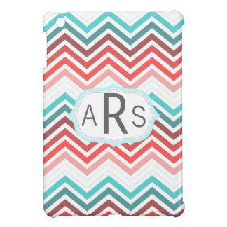 Colorful red, pink, blue, teal chevron zigzag case for the iPad mini