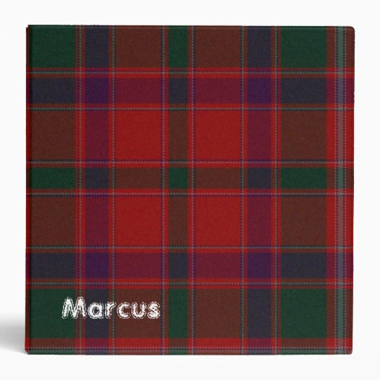 Colorful Red Plaid Binder