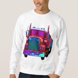 Colorful Red Semi Truck Sweatshirt