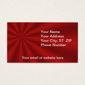 Colorful Red Starburst Business Cards