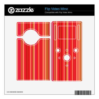 Colorful Red Stripes Decal For The Flip Mino