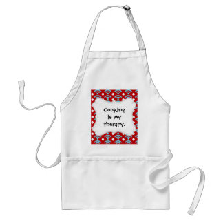 Colorful Red Teal Turquoise Rainbows Arches Dots Adult Apron