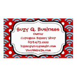 Colorful Red Teal Turquoise Rainbows Arches Dots Business Card Templates