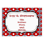 Colorful Red Teal Turquoise Rainbows Arches Dots Business Cards