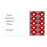 Colorful Red Teal Turquoise Rainbows Arches Dots Business Card Template