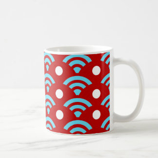 Colorful Red Teal Turquoise Rainbows Arches Dots Coffee Mug