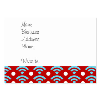 Colorful Red Teal Turquoise Rainbows Arches Dots Large Business Card