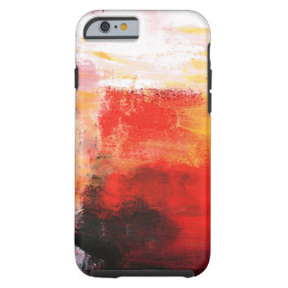 Colorful Red White Abstract Expressionist Artwork Tough iPhone 6 Case