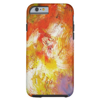 Colorful Red Yellow Abstract Expressionist Artwork Tough iPhone 6 Case
