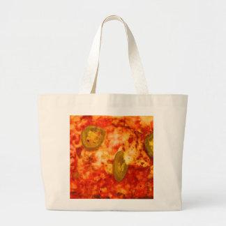 Colorful Red Yellow Green Jalapeno Jumbo Tote Bag