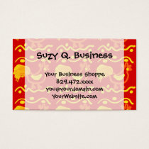 Colorful Red Yellow Orange Rooster Chicken Design Business Card