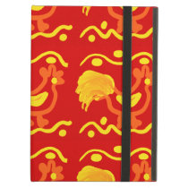 Colorful Red Yellow Orange Rooster Chicken Design Case For iPad Air
