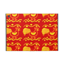 Colorful Red Yellow Orange Rooster Chicken Design Case For iPad Mini
