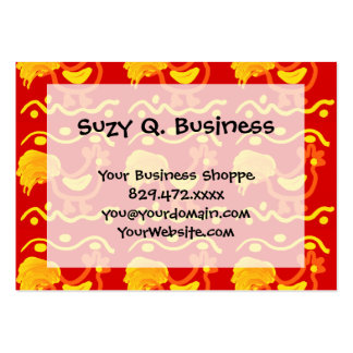 Colorful Red Yellow Orange Rooster Chicken Design Large Business Card