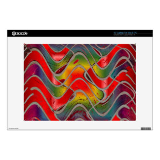 """colorful red yellow pattern decal for 13"""" laptop"""