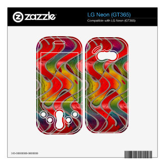 colorful red yellow pattern LG neon skin
