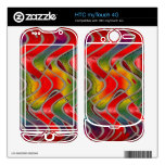 colorful red yellow pattern skins for HTC myTouch 4G