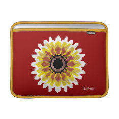 Colorful Red Yellow White Sunflower 13 Ins Air Macbook Sleeve at Zazzle