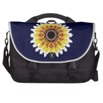 Colorful Red Yellow White Sunflower Embroider Look Bag For Laptop  at Zazzle