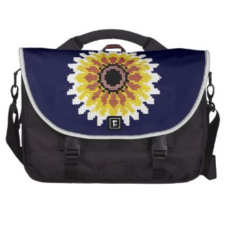 Colorful Red Yellow White Sunflower Embroider Look