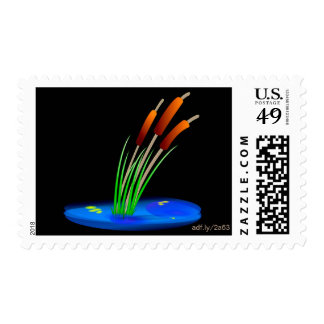 Colorful Reed US Postage Stamps