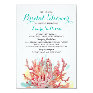 Colorful Reefs Watercolor | Bridal Shower Card