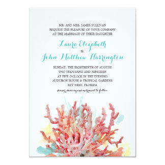 Colorful Reefs Watercolor | Wedding Card