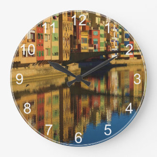 Colorful Reflections Clock