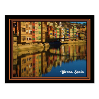 Colorful Reflections in Girona, Spain Postcard