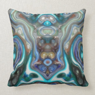 Colorful Reflections of Glass Throw Pillow