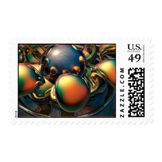 Colorful reflections postage