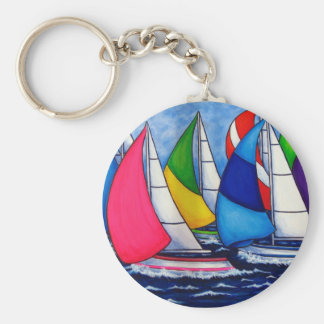 Colorful Regatta Sailing Key Chain