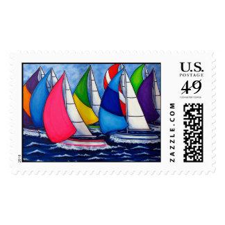 Colorful Regatta Stamp