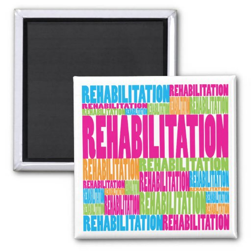 Colorful Rehabilitation 2 Inch Square Magnet